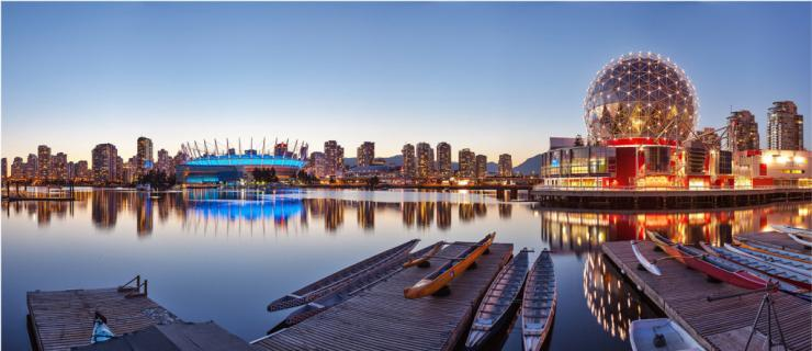 Photo of urban docks in Vancouver, BC by Chris Collacott