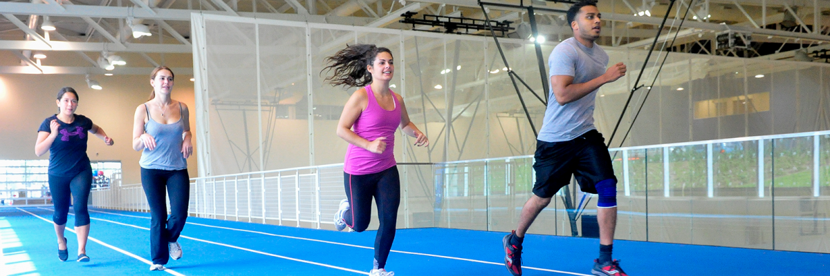 UTSC students running on a track