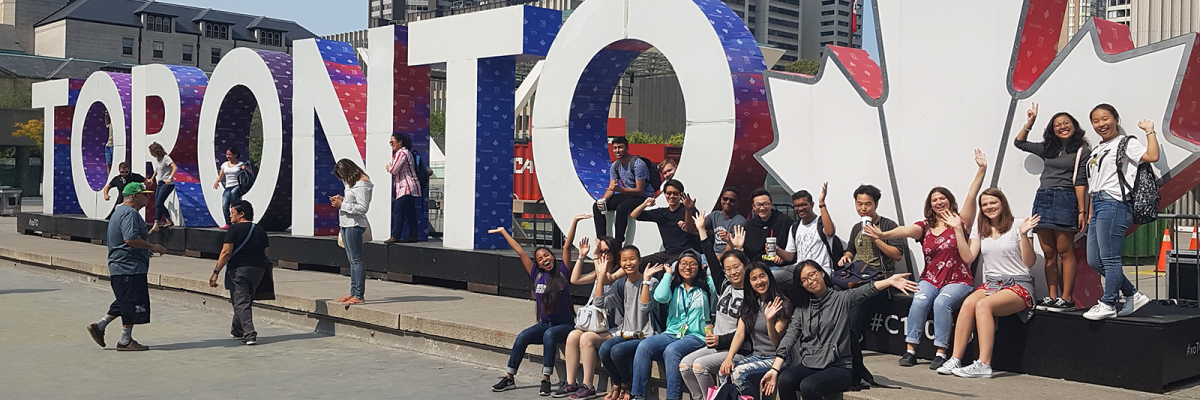 Students with Toronto sign