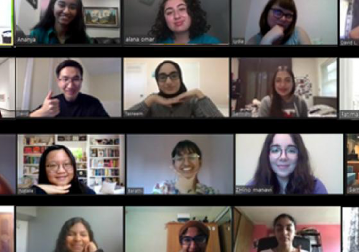 First Year Peers on a Zoom call