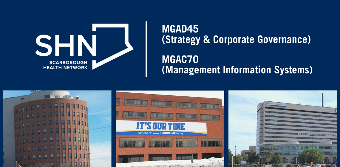 SHN Places (MGAD45 Strategy & Corporate Governance, MGAC70 Management Information Systems)