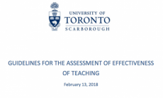 Guidelines Assessment Teaching Effectiveness